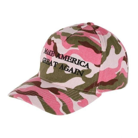 Image of Pink Camo MAGA Hat-Trump Rack