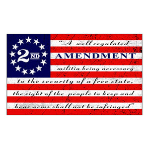 2nd Amendment (Red White and Blue) Flag