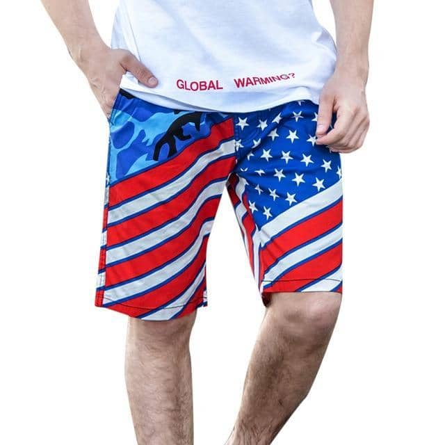 Stars and Stripes Men Swim Short-Trump Rack