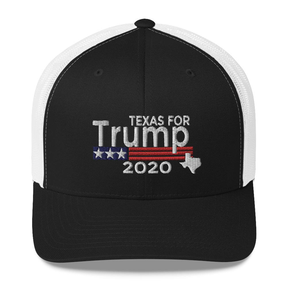 Texas For Trump Trucker Cap-Trump Rack