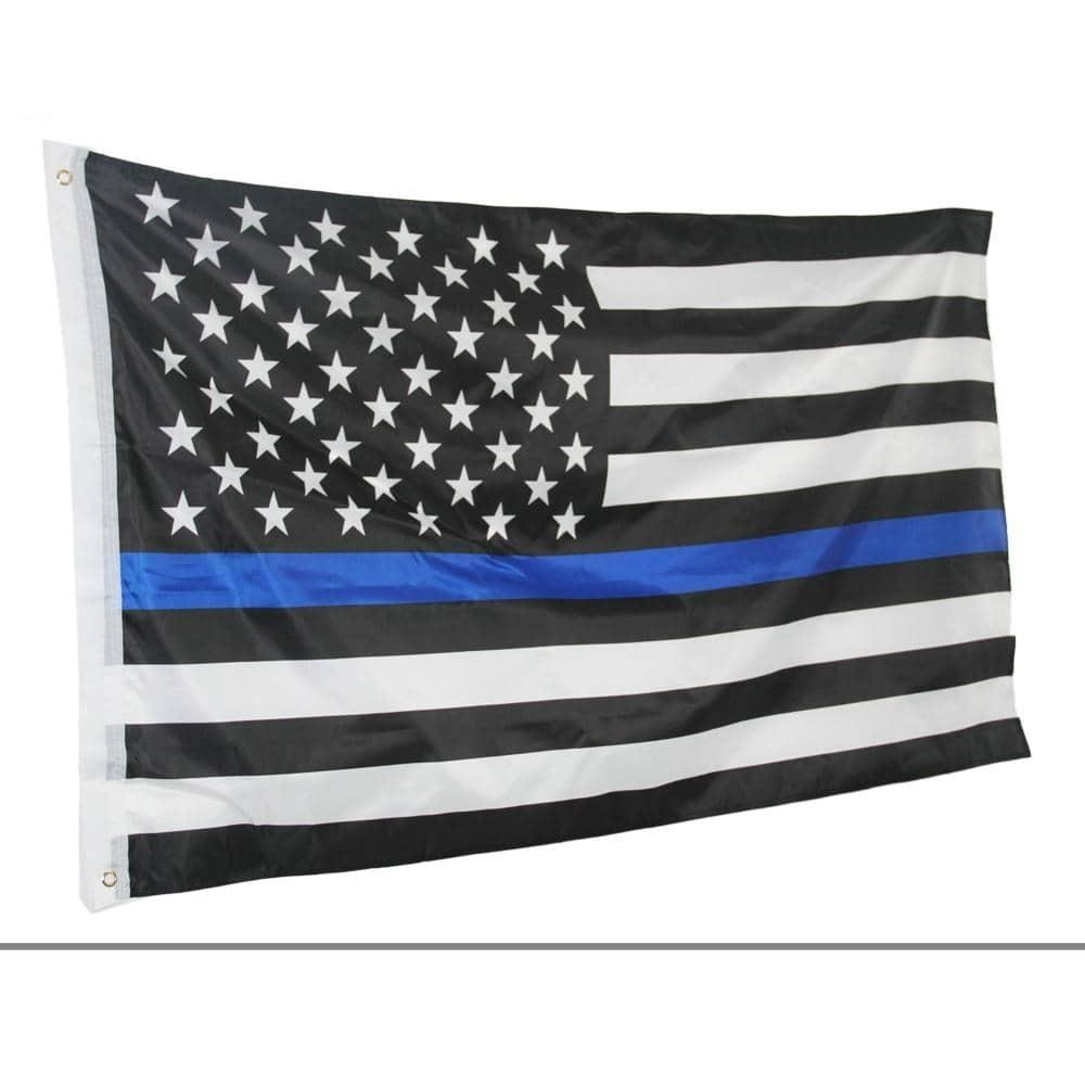 Thin Blue Line American Flag-Trump Rack