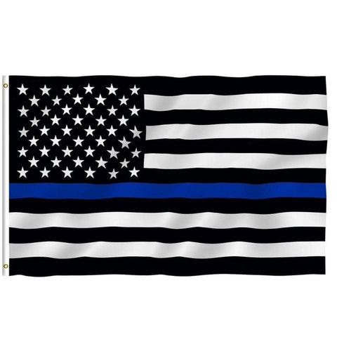 Image of Thin Blue Line Flag 3'x5'-Trump Rack
