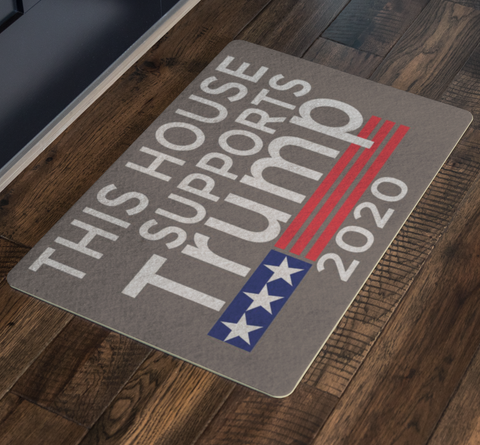 Trump 2020 Doormat - This House Supports Trump-Trump Rack