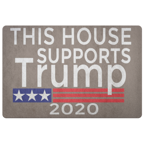 Image of Trump 2020 Doormat - This House Supports Trump-Trump Rack