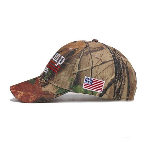 Image of Trump 2020 Mossy Oak Camo Hat-Trump Rack