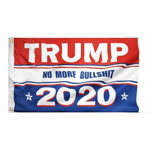Trump 2020 No More BS Flag-Trump Rack