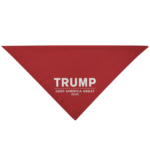 Image of Trump 2020 Pet Bandana - Keep America Great-Trump Rack