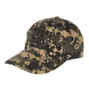 Trump 2020 Woodland Digital Camo Hat-Trump Rack