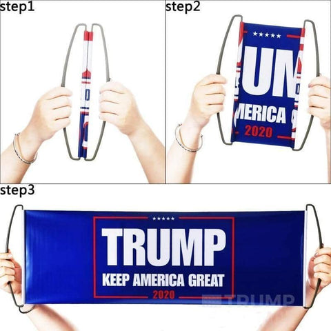 Image of Trump Handheld Retractable Banner-Trump Rack