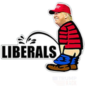 Trump piss on Liberal Decal-Trump Rack