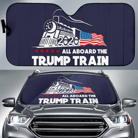 Image of Trump Train Car Sun Shade-Trump Rack