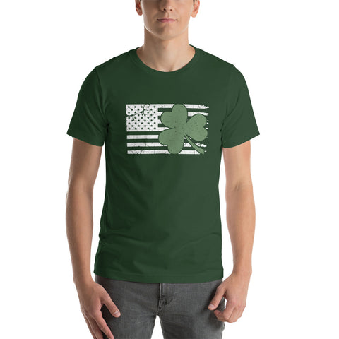 American Flag St. Patrick's Day T-Shirt