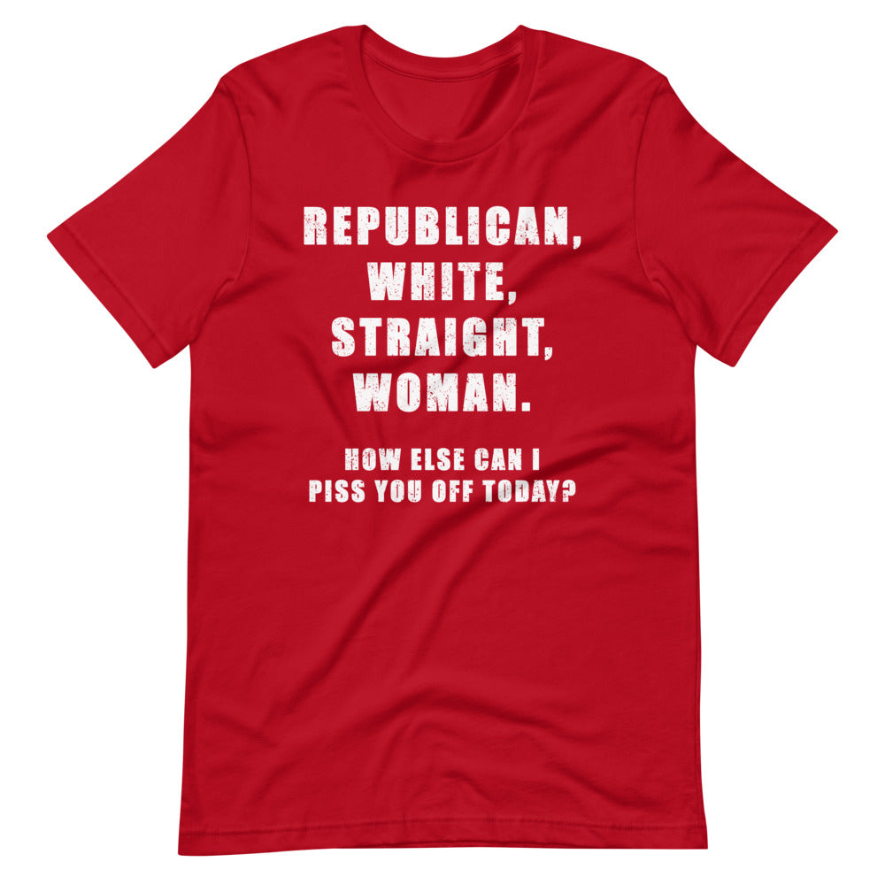 Republican White Straight Woman's T-Shirt