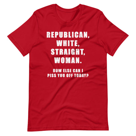 Image of Republican White Straight Woman's T-Shirt