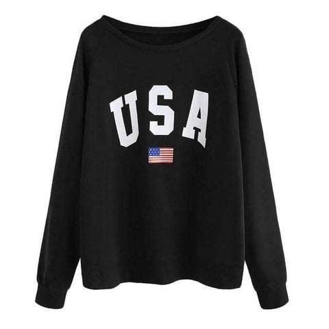 Image of USA Casual Long Sleeve Sweatshirt-Trump Rack