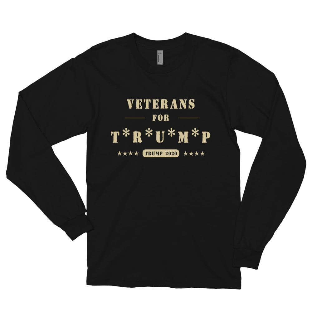 Veterans For Trump Long sleeve T-shirt-Trump Rack