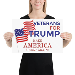 Veterans For Trump Poster-Trump Rack