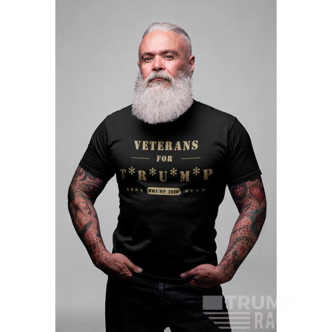 Image of Veterans For Trump T-Shirt-Trump Rack