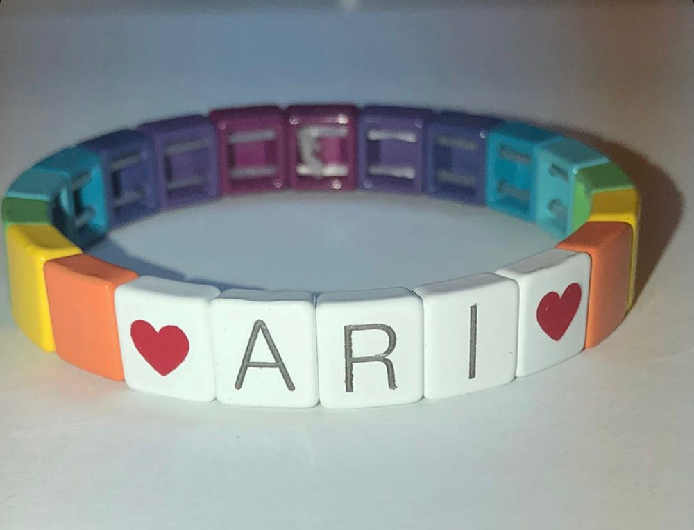 The Rainbow Tile Bracelet