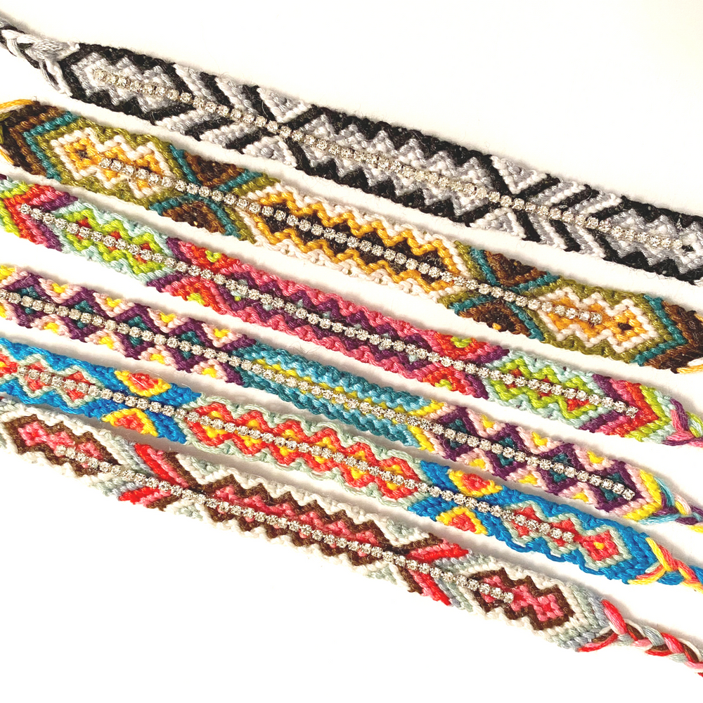 Friendship Bracelets with Bling