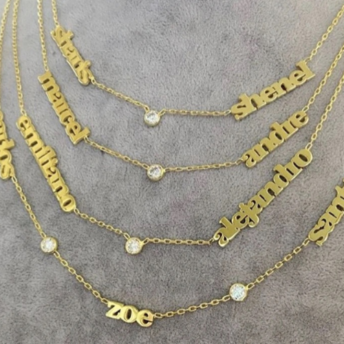 Name Necklace - double or triple