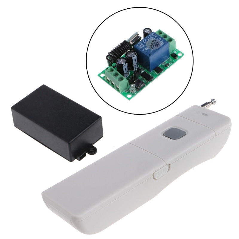 Relay Long Distance RF Remote Control Switch Receiver Module + Transmitter