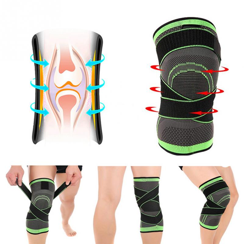 1pc Professional Knee Support Protector Sports Knee Pad Breathable Bandage Knee Brace for Basketball Tennis Cycling Fitness Gear