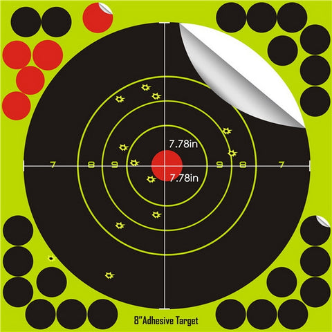 20 sticks per pack Splash flower target 8-inch adhesive Reactivity Shoot Target Aim for Gun / Rifle / Pistol Binders