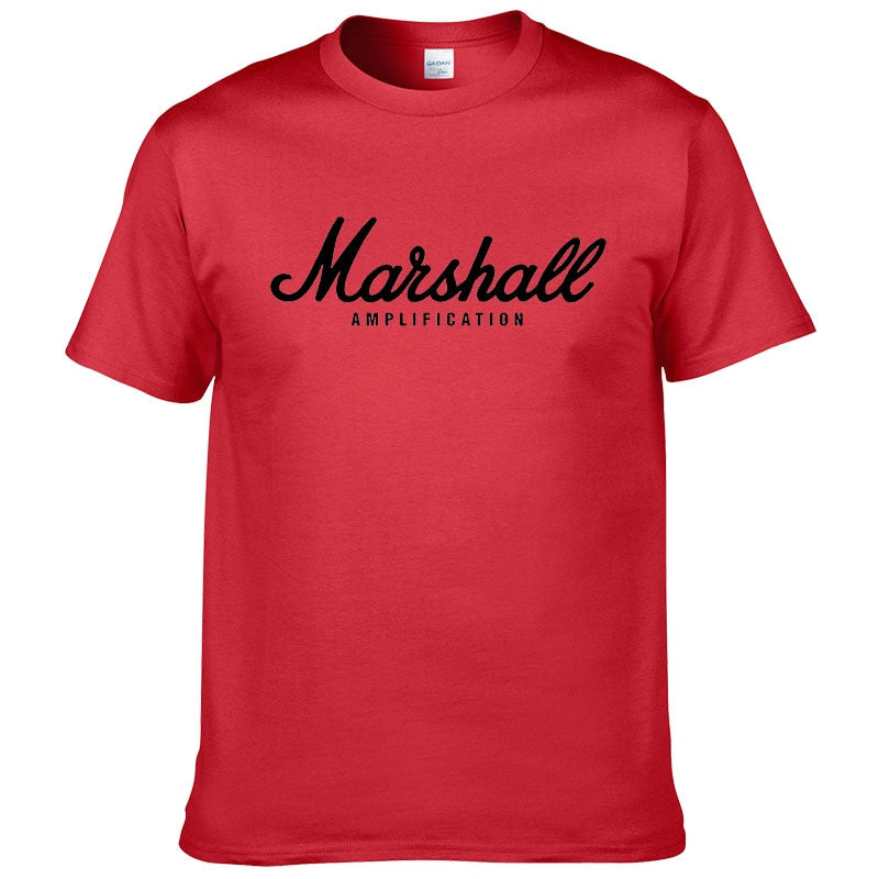 2017 hot sale summer 100% cotton Marshall t shirt men short sleeves tee hip hop streetwear for fans hipster XS-2XL #220