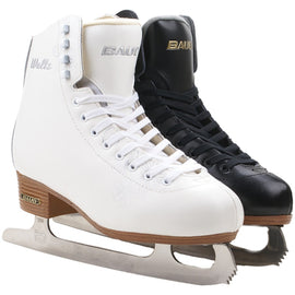 Adult Thermal Warm Thicken Figure Skating Ice Skates Shoes With Ice Blade PVC Waterproof White Black