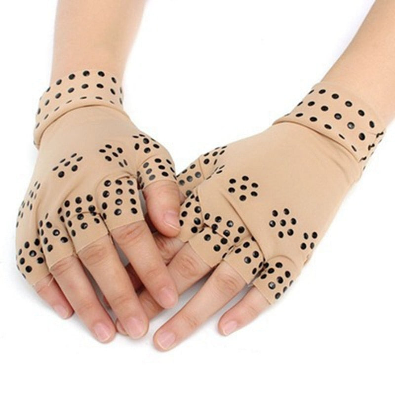New Magnetic Anti Arthritis Health Compression Therapy Gloves Fingerless Gloves