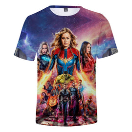 Men's tshirt  3D Print Latest Movie Avengers Endgame Short Sleeve T shirt