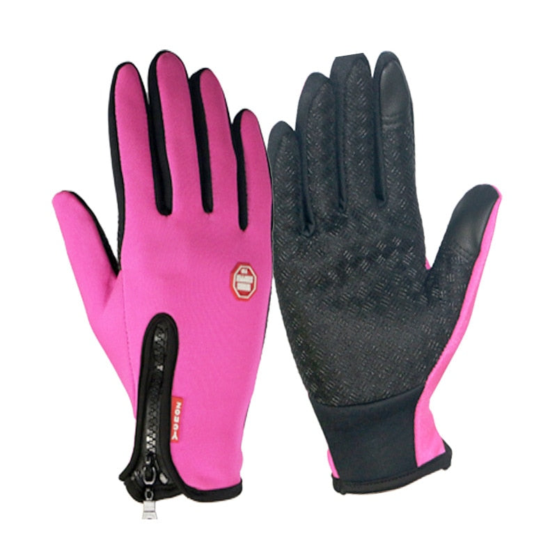 Unisex Touchscreen Full Finger Gloves Winter Thermal Warm Cycling Bicycle Ski Camping Hiking Motorcycle Waterproof Gloves