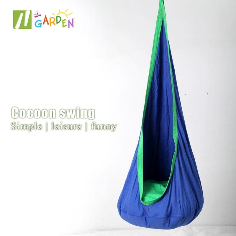 2019 hot sale Hammock Inflatable Cushion Garden Swing Chair Indoor Outdoor Hanging Seat Child Swing Seat Patio Hammock Furniture