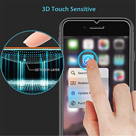 2PCs Clear Tempered Glass Screen Protective Film For IPhone 6 Plus