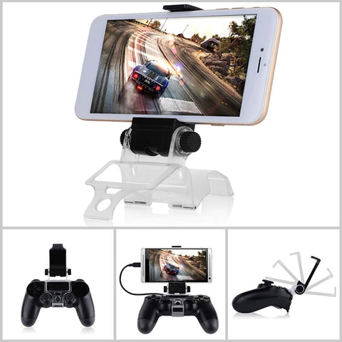 5pcs Newest For PS4 Smart Clip Cell Mobile Phone Clamp Holder For PS4 Game Controller Mobile Phone Stands Holders