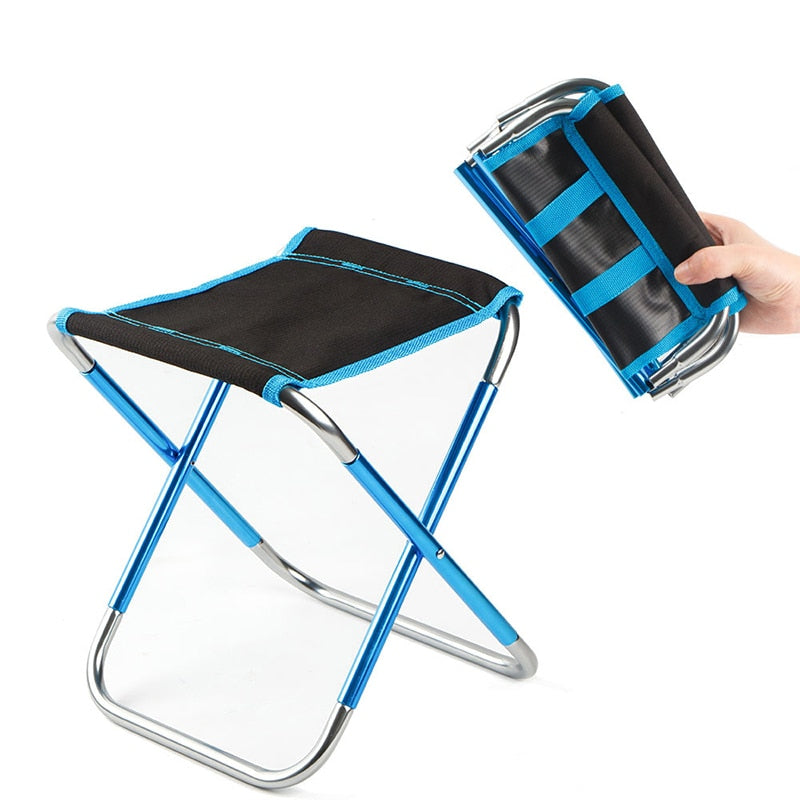 Portable Folding Chair Beach Seat Lightweight 280g Bear 100kg Fishing Outdoor Furniture Vocation Casual Camping Fishing