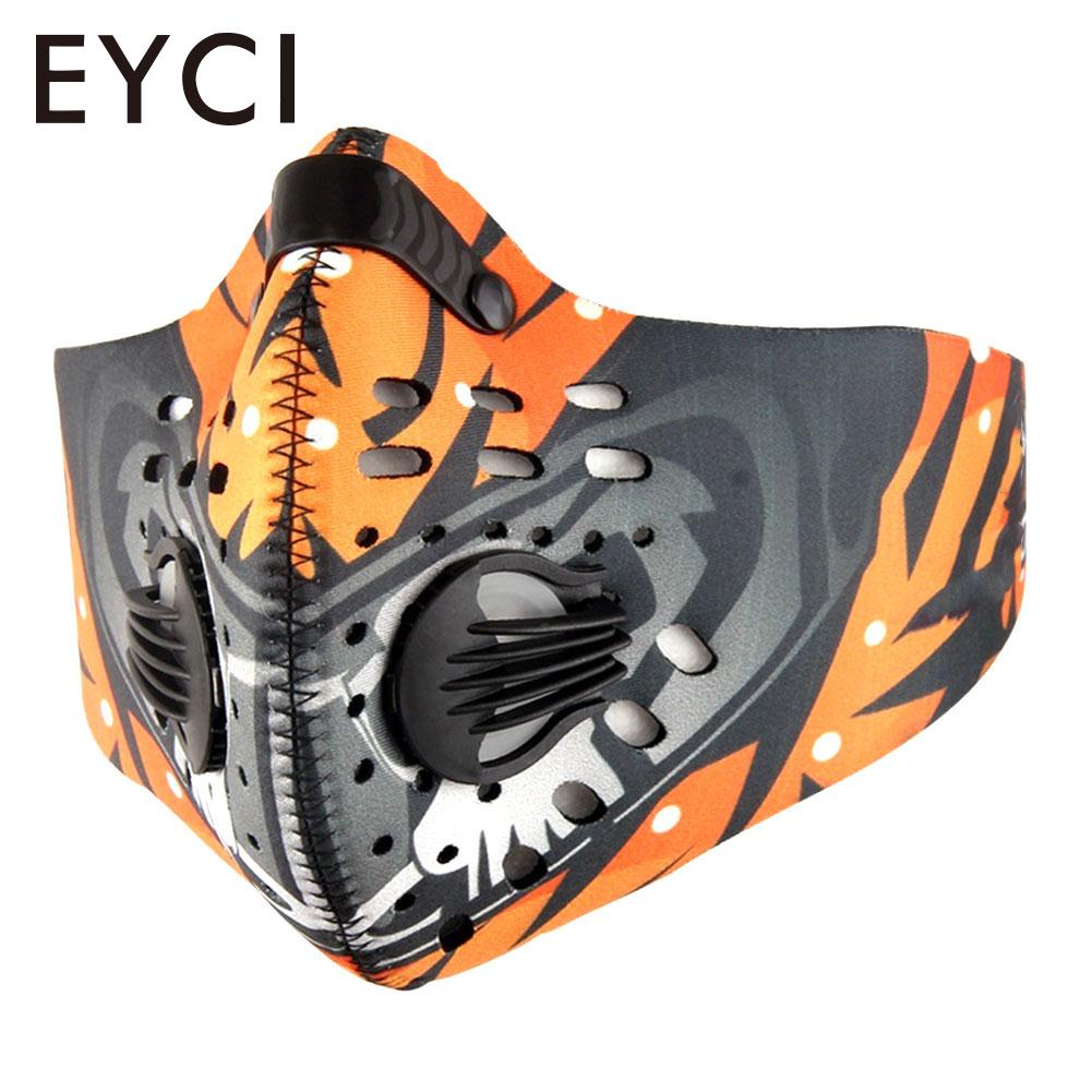 Activated Carbon Cycling Mask Anti-Pollution Respirator Filtration Mask Dustproof Mountain Bicycle Sport Road Cycling Face Cover