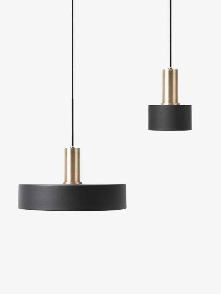 Black Nordic simple bar hanging lamp colored Pendant Light restaurant, bedroom, bedside lights, modern art and creative lighting