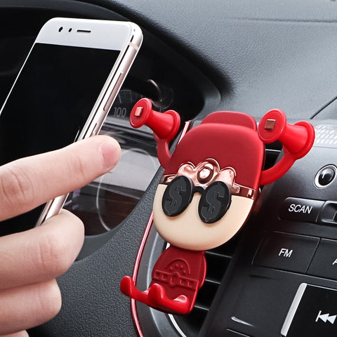 Car Phone Holder Universal Air Vent Mount Clip Cell Phone Holder for iPhone Samsung