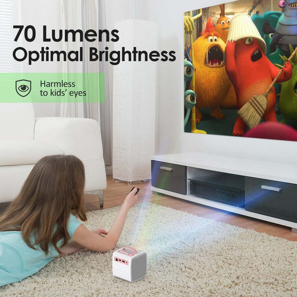 Mini Projector 700 Lumens Children Education Children's gift Parent-child Portable Projector Mini LED TV Home Beamer
