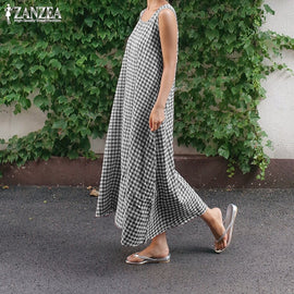 Fashion Check Summer Women's Long Maxi Sleeveless Party Vestidos