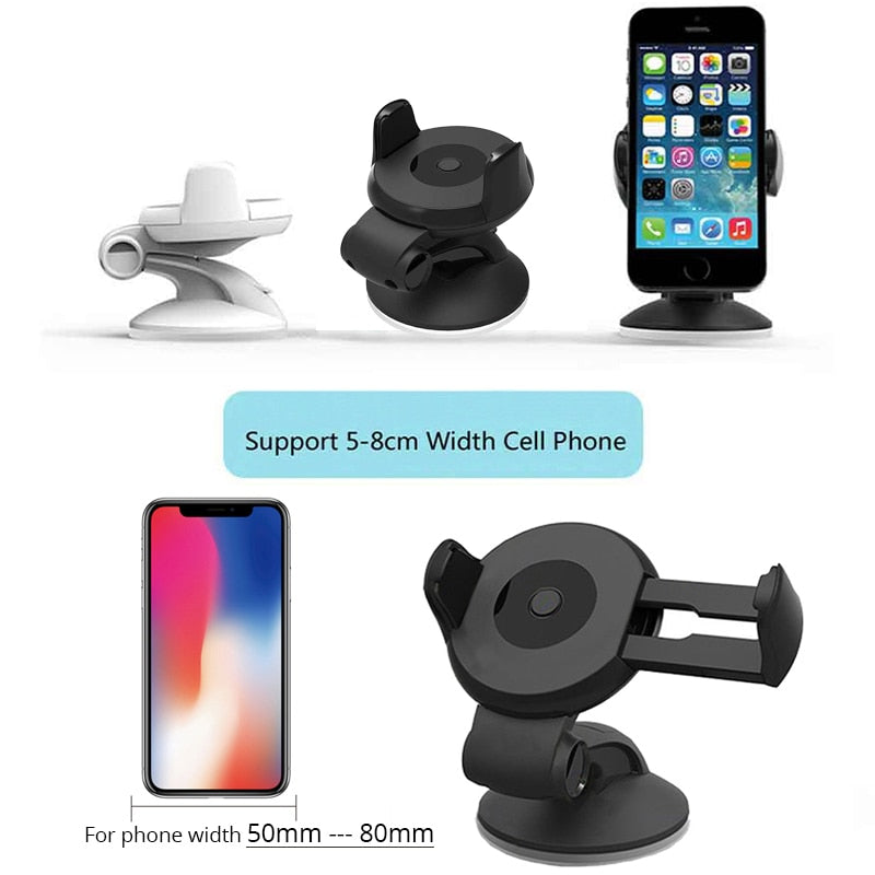 Car Holder Phone Grip Mount Stand Support Voiture For One plus 5t LG q6 Ulefone t2 pro vivo v9 sony xperia xa1 Lenovo p2 Cat s60