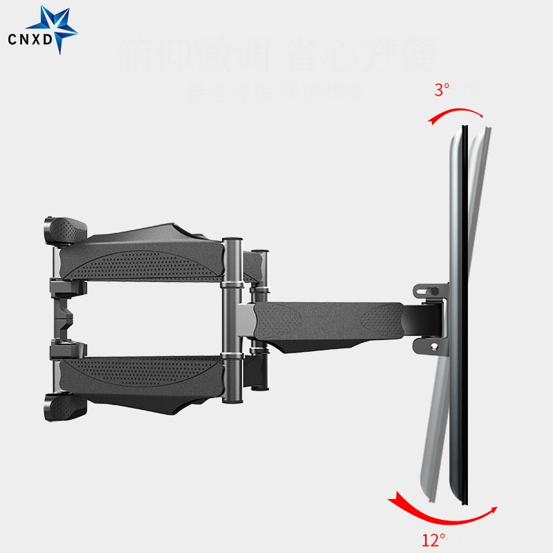 "Full Motion 32""-65"" LCD LED TV Wall Mount Retractable TV Rack Wall Mount Lcd Bracket 6 Swing Arms MAX VESA 400x400mm"