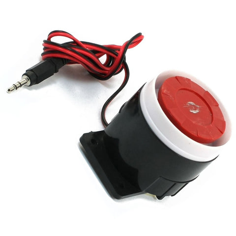 Continuous Sound Decibel Piezo Buzzer IC Alarm Speaker DC 12V 120db Black+Red
