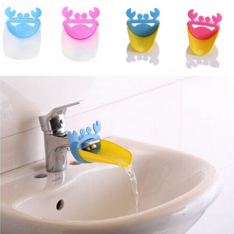 Unique Cute Bathroom Water Faucet Extender For Kid Hand Washing Child Gutter Sink Guide