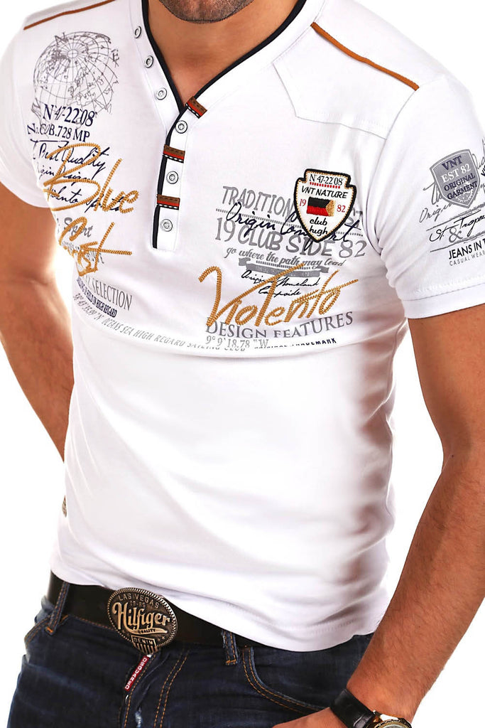 Summer Mens Short sleeve Fashion V-neck cotton slim Casual Shirt