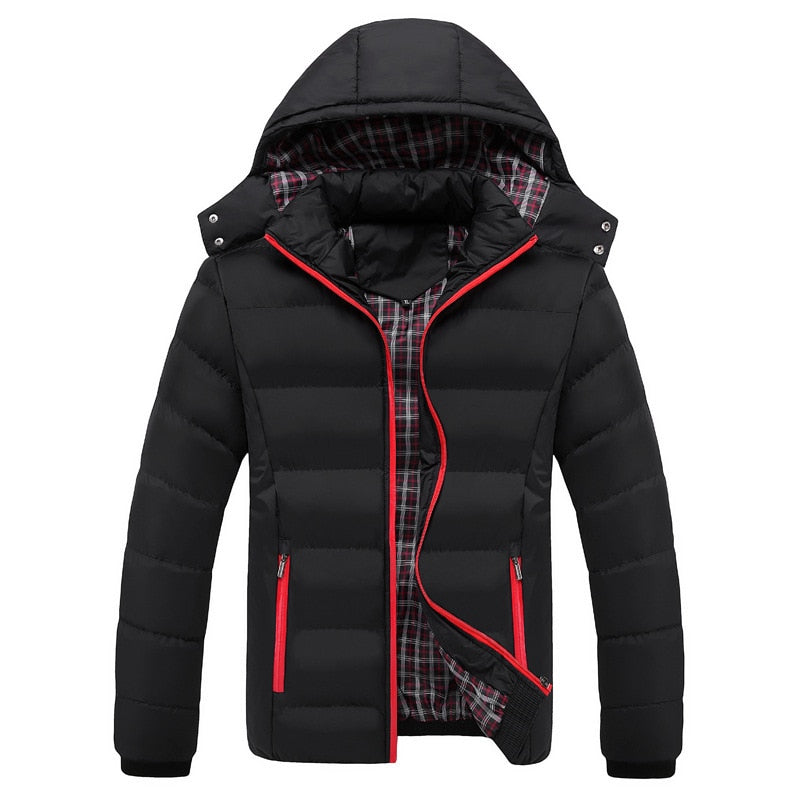 High Quality 90% cotton Thick Down Jacket men Snow parkas coat