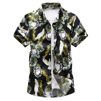 Summer Beach Hawaiian Short Sleeve floral Printed Shirt