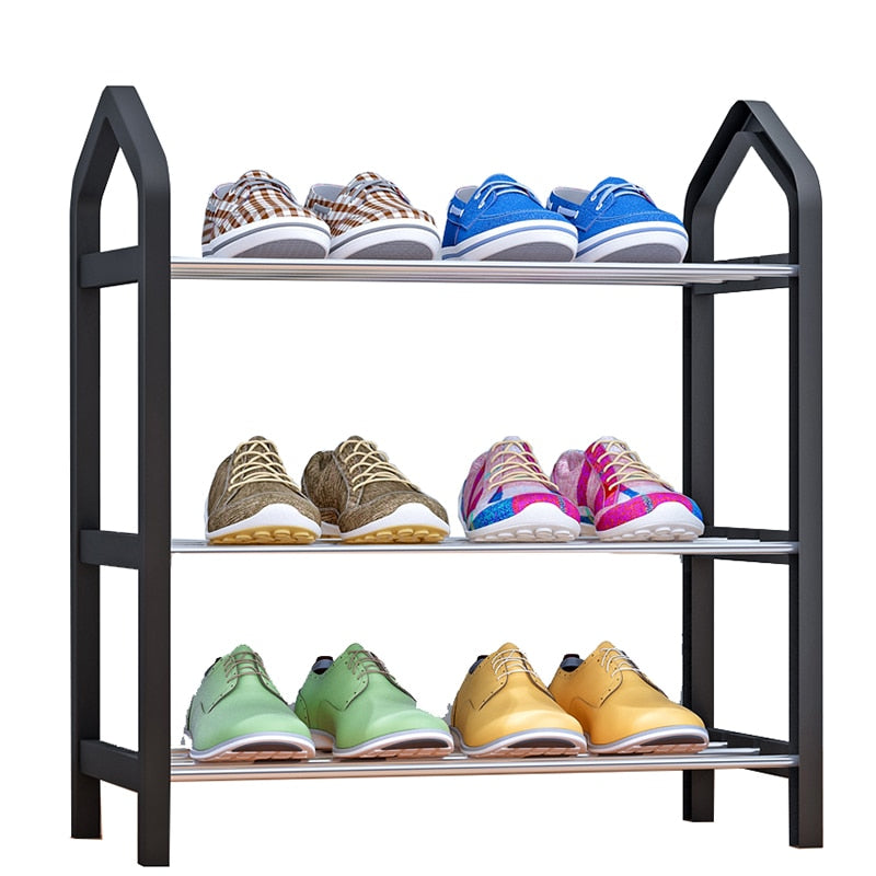 Home Furniture Simple Shoe Rack Multi-layer Storage Shoe Cabinet Economical Assembly Shoe Shelf Storage Organizer Stand